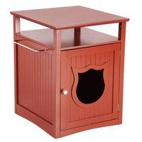 Pet Hup Hup PetHupHup Kitty Cat Thunderbox Cat Litter Box Enclosure Walnut