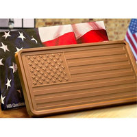 Chocolate Chocolate 302247 American Flag 2lb Chocolate Bar
