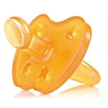 HEVEA Star & Moon Orthodontic Pacifier 3-36 months Large Teat