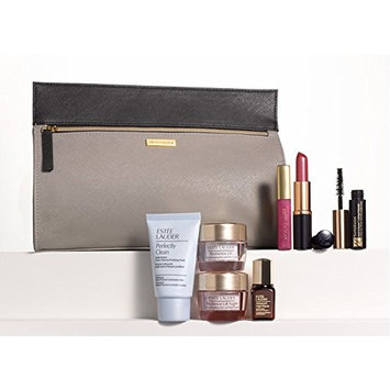 Estee Lauder 8 Pcs Gift Set Fall 2014 Time Zone Day & Night Moisturizier Duo, Advanced Night Repair Serum, Mascara, Lipstick, Gloss, Perfectly Clean Cleanser, Makeup Bag Value $165