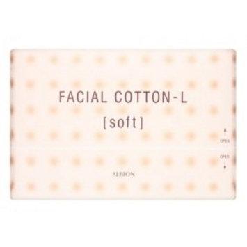 Albion Japan Facial Cotton-L [Soft], 120 Sheets