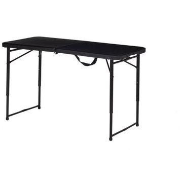 Mainstays Adjustable Folding Table, Black, Set of 2