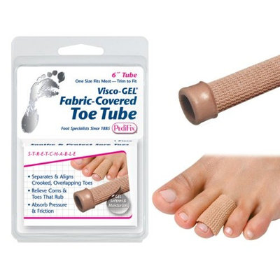 SPECIAL PACK OF 3-Visco-GEL© Fabric-Covered Toe Tube Small