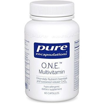 Pure Encapsulations - O.N.E. Multivitamin with Metafolin L-5 MTHF - Hypoallergenic Dietary Supplement - 60 Capsules