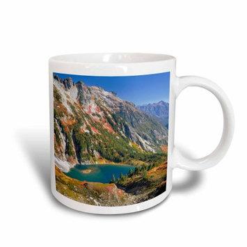 3dRose USA, Washington. Doubtful Lake and the Stehekin Valley from Sahale Arm, Ceramic Mug, 15-ounce