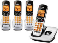Uniden D1760-4 DECT 6.0 Cordless Phone w/ 3 Extra Handsets