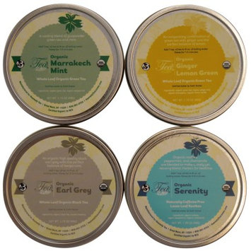 Heavenly Tea Inc. Heavenly Tea Leaves Organic Tea Sampler, 4 Count