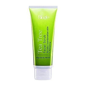 MUST BUY ! 8 Tube COSWAY Bioglo Tea Tree Facial Scrub For Oily & Combination Skin ( 100g )