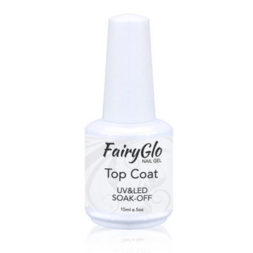 Base Top Coat UV LED Soak Off Foundation Gel Reinforce Polish Nail Art FairyGlo