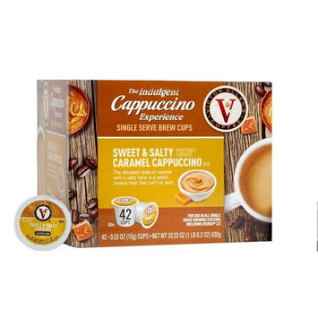 Victor Allen Coffee Sweet & Salty Caramel Cappuccino Single Serve, 42 Count (Compatible with 2.0 Keurig Brewers)