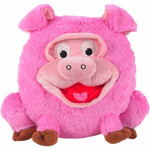 Jayplay Pig Play Face Pal Round Decorative Pillow (13.3