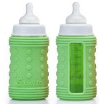 Coddlelife Ultra Cushioning Silicone Bottle Wrap, Blue/Green