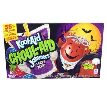 Kool-Aid Ghoul-Aid Jammers! Scary Berry Flavor! Ten Pouches Per Box! Kids Will Love This Delicious Juice!