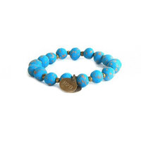 Simbi 7mm Clay Bracelet Dolphin Blue