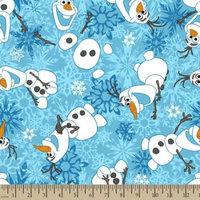 Disney Frozen Olaf Winter Snowflakes Fleece