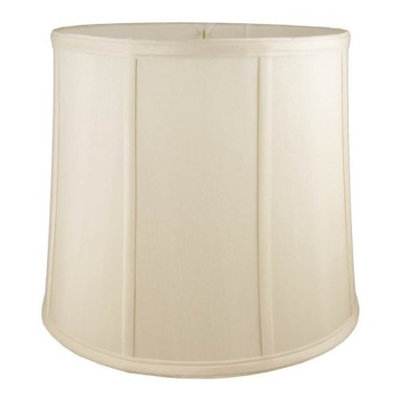 Round Drum Lampshade in Eggshell