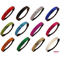 Kenz Laurenz 12 Pack Glitter Headbands U PICK (Available in LOTS of COLORS) - Elastic Stretch Sparkly Fashion Headband for Teens Girls Women Softball Volleyball Basketball Sports Teams Set Hair Accessories Store