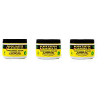 [VALUE PACK OF 3] ECO 100% Pure Brazilian Beeswax Black Castor & Flaxseed 4oz : Beauty