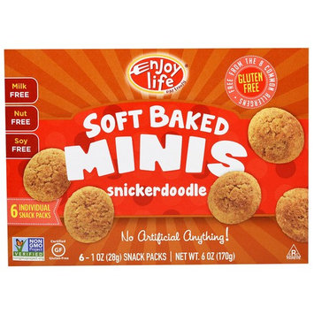 Enjoy Life Foods, Soft Baked Mini Cookies, Snickerdoodle, 6 Snack Packs, 1 oz (28 g) Each [Flavor : Snickerdoodle]