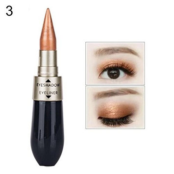 Braceus Double-end Waterproof Liquid Eye Shadow Eyeliner Combination Pencil Cosmetic