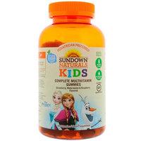 Sundown Naturals Kids, Complete Multivitamin Gummies, Disney Frozen, Strawberry, Watermelon & Raspberry Flavored, 180 Gummies [Package Quantity : 180 Gummies]