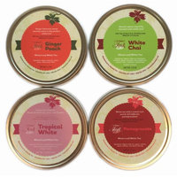 Heavenly Tea Leaves White Tea Sampler, Whole Leaf Gift Box, 4 Count