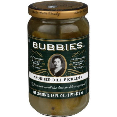 Bubbies Pure Kosher Dill Pickle 16 Oz (Pack of 1)