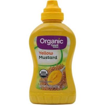 Great Value Organic Yellow Mustard, 8 oz