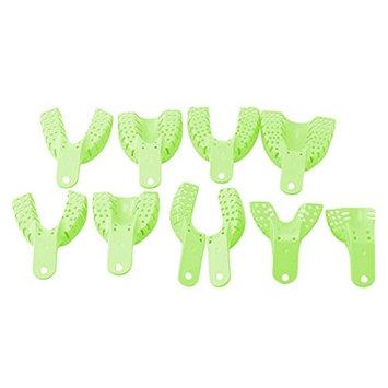 Plastic Dental Impression Trays Dental Teeth Holder For Oral Tools 10Pcs