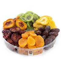 Oh Nuts Healthy Tropical Dried Fruit Gift Tray 6 Section, 2 lb