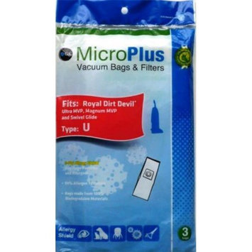 GK MicroPlus For Dirt Devil GKH-DDU Microplus 3 Ply Biodegradable Vacuum Bags Pack of 75