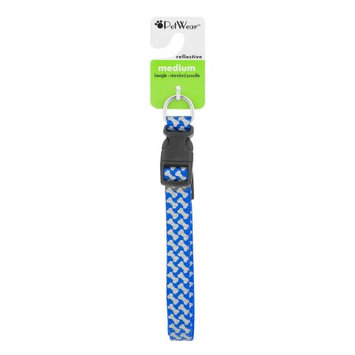 Rose America Corp. Petwear Medium Reflective Collar, Blue