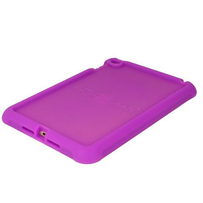 TECHGEAR® Bumper Case for Apple iPad Mini 4 Rugged Heavy Duty Anti-Shock Rubber Protective Case with Added Corner & Edge Protection and Easy Grip Design + Screen Protector [PURPLE] - Kids & School Friendly Case