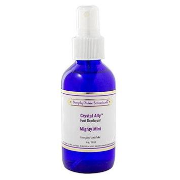 Simply Divine Botanicals Crystal Ally Mighty Mint Foot Deodorant Spray- 4 oz