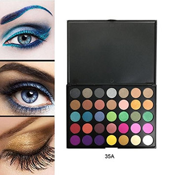HP95(TM) 35 Color Shimmer Glitter Eye Shadow Powder Palette Matte Eyeshadow Makeup