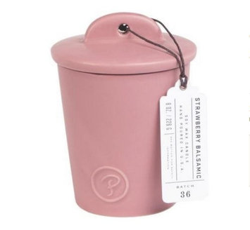 Cc Home Furnishings Paddywax Provisions Collection Strawberry Balsamic Scented Soy Candle in Ceramic Jar 8 oz