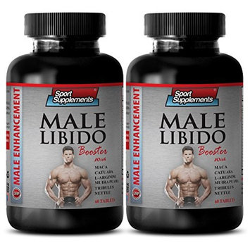 Muira puama bark - Male Libido Booster - Supports healthy sex drive (2 Bottles - 120 Tablets)