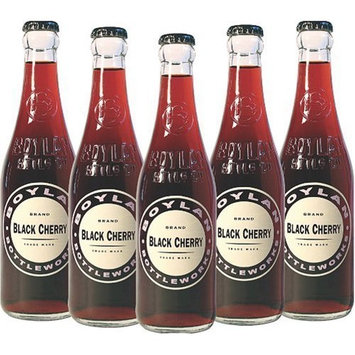 Boylan Black Cherry Soda, 12 Ounce (12 Glass Bottles)