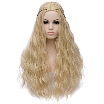 Amback Long Curly Braid Cosplay Wig 2107 New Movie Wigs for Women