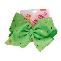 JoJo Siwa Signature Collection Hair Bow - Green with Clear and Green Rhinestones