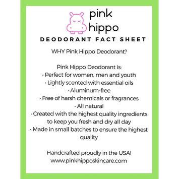 Pink Hippo All Natural Deodorant- Original Lemongrass Organic, Aluminum-Free, Phthalate- Free, Paraben- Free 3.3oz