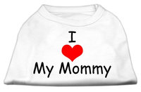Mirage Pet Products 5135 XLWT I Love My Mommy Screen Print Shirts White XL 16