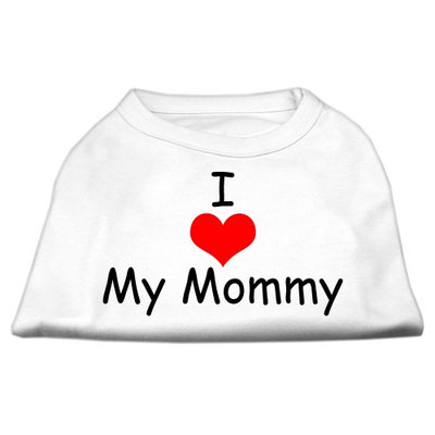 Mirage Pet Products 5135 SMWT I Love My Mommy Screen Print Shirts White Sm 10