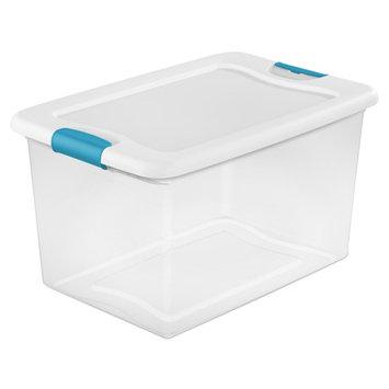 Sterilite 64 Qt Latching Box, White (Case of 6)