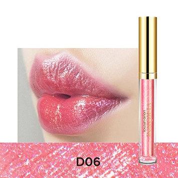 Fenleo Metallic Lip Gloss, Waterproof, Moisturizing, Long-lasting Sexy Women Lips Cosmetics