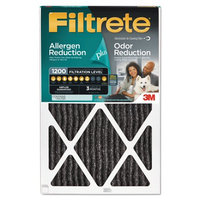 3M Filtrete Allergen Plus Odor Reduction Air and Furnace Filter, 20x30, Set of 4