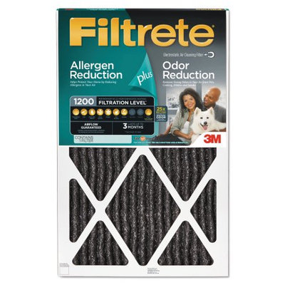 3M Filtrete Allergen Plus Odor Reduction Air and Furnace Filter, 16x25, Set of 4