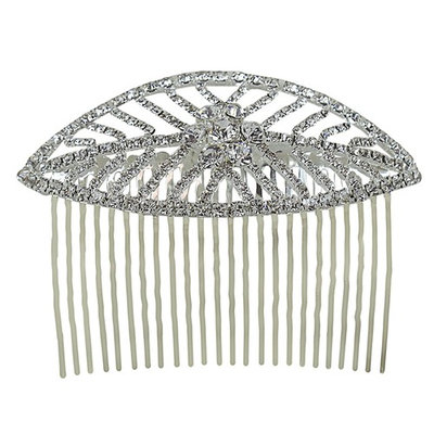 Leaf Hair Comb Crystals 3.75