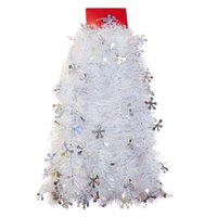 12ft Silver Snowflake Tinsel Garland - Wondershop™