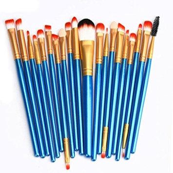 NOMENI 20 pcs Makeup Brush Set tools Make-up Toiletry Kit Wool Make Up Brush Set